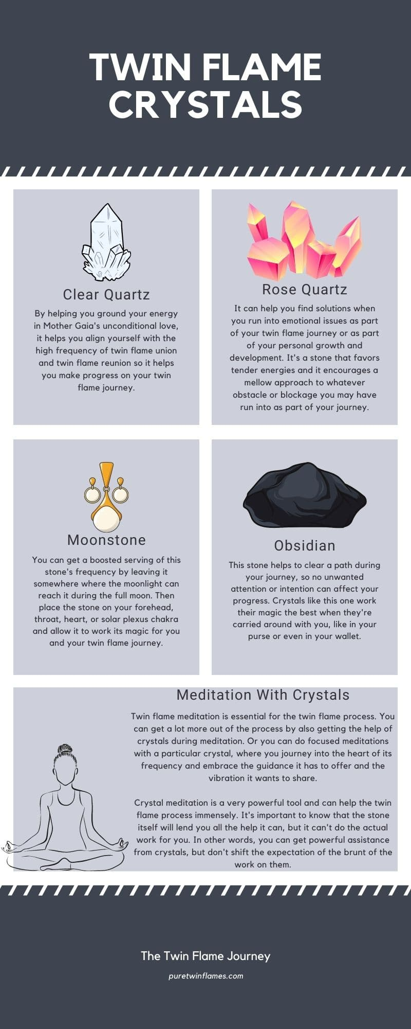 Twin Flame Crystal Infographic